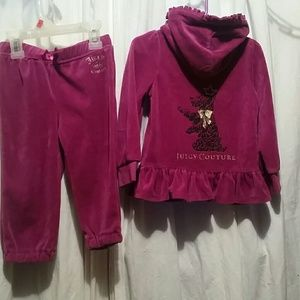 Juicy Couture 2pc hooded set